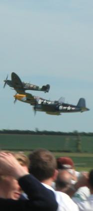 Spitfire, Mustang, Corsair, heads