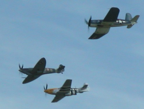 Spitfire, Mustang, Corsair, no heads